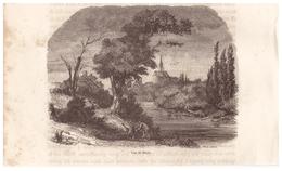1844 - Gravure Sur Bois - Niort (Deux-Sèvres) - Vue Générale - FRANCO DE PORT - Estampes & Gravures