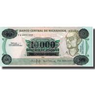 Billet, Nicaragua, 10,000 Córdobas On 10 Córdobas, 1985, 1985, KM:158, NEUF - Nicaragua