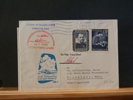 83/320  LETTRE   AUTRICHE  1° VOL  1958 + VIGNETTE - First Flight Covers