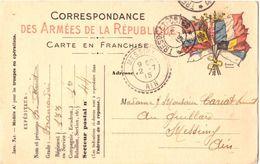 Carte Franchise Correspondance Militaire 1915 - Militari