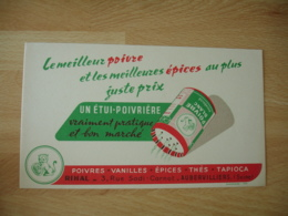 Aubervilliers Poivre Vanille Epice   Buvard - Buvards, Protège-cahiers Illustrés