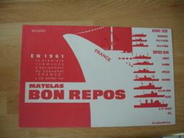 Paquebot France Matelas Bon Repos Commande  Buvard Buvards - Buvards, Protège-cahiers Illustrés