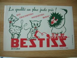 Bestiss Mouton Chat Lion Socquette    Buvard Buvards - Buvards, Protège-cahiers Illustrés