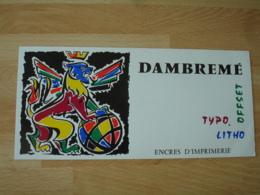 Dambreme Encre Imprimerie Offset Titho Buvard Buvards - Buvards, Protège-cahiers Illustrés