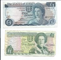 Jersey Lot De 2 Billets Ayant Circulés - Jersey