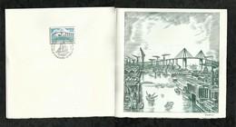 PREMIER JOUR  . PONT DE SAINT NAZAIRE . 08 NOVEMBRE 1975 . SAINT NAZAIRE . SAINT BREVIN. - FDC