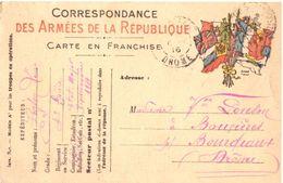 Carte Franchise Correspondance Militaire 1916 - Militaria