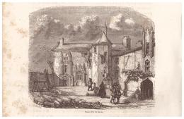 1844 - Gravure Sur Bois - Saint-Pol-de-Léon (Finistère) - Une Maison - FRANCO DE PORT - Prints & Engravings