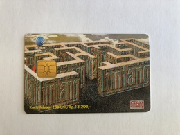 Indonesia - Chip Card Labyyrinth  - 5000 Ex - Indonesia