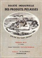 SOCIETE INDUSTRIELLE DES PRODUITS MELASSES - USINE DU CAP JANET - BUREAUX MARSEILLE - France