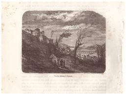 1844 - Gravure Sur Bois - Saumur (Maine-et-Loire) - Le Château - FRANCO DE PORT - Prints & Engravings