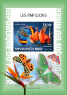Niger 2018 Butterflies And Flowers    S201901 - Niger (1960-...)