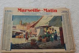 CALENDRIER MARSEILLE MATIN 1936 - Calendriers