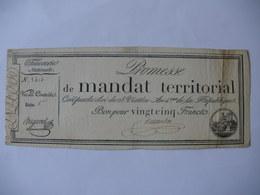 PROMESSE DE MANDAT TERRITORIAL 25F DU 28 VENTOSE AN 4 LAF 200 SERIE 1 N°8414 RARE - Assignats & Mandats Territoriaux