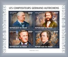 Niger 2018  German-Austrian Composers   Music   S201901 - Niger (1960-...)