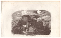 1844 - Gravure Sur Bois - Tiffauges (Vendée) - Le Château - FRANCO DE PORT - Prints & Engravings
