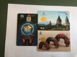 Indonesia -   3 Chip Cards   - 20000  Ex - Indonesia