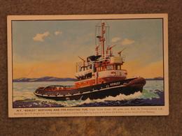 TUG KENLEY ART CARD - SALMON - Tugboats