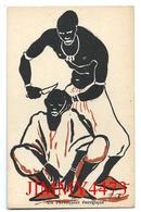 CPA - Un Pérruquier énergique - SOUVENIR DE L'EXPOSITION COLONIALE PARIS 1931 - Edit. Du LOUP - Scans Recto-Verso - Expositions