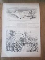 Gravure  1877 Moldavie Bulgarie    Le Ville De TIRNOVA    Guerre Des Balkans   Entrée Des Russes à SAMADOVA Dondușeni - Moldavie
