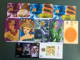 Indonesia - 10 Different   Chip Cards  - 30000 - Indonesia