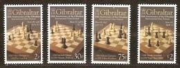 Gibraltar 2012 Yvertn°  1457-1460 *** MNH Cote 11,00 Euro Festival D' échecs Chess Schaken - Gibraltar