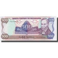 Billet, Nicaragua, 500 Cordobas, 1988, 1988, KM:155, NEUF - Nicaragua