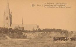 CPA - Belgique - Leper - Ypres - Les Remparts De L'Eglise St-Jacques - Ieper