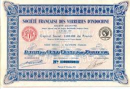 Société Francaise Des VERRERIES D'INDOCHINE - Asia