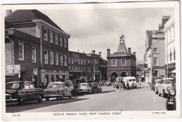 Reigate: FORD ZEPHYR '51, AUSTIN A50 CAMBRIDGE, K8 VAN, ROVER P4 75 - Market Place -  (England) - Passenger Cars