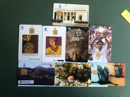 Indonesia - 8 Nice Chip Cards - 10000 Ex - Indonesia