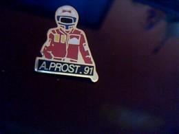 Pin' S Publicitaire  En Metal    Avec Fermoir Ancien ALAIN PROST 1991 - Car Racing - F1