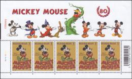 Belgium PF 3784** Mickey Mouse MNH Feuillet De 5 Planche 2 - Neufs