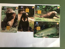 Indonesia - 4 Nice Chip Cards - Animals  - 10000 Ex - Indonesia