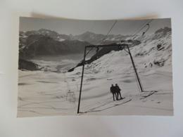 Betmeralp, Wallis Skilift Bettmerhorn Dom, Matterhorn, Weisshorn. - VS Valais