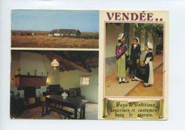 Piece Sur Le Theme De Multivues - La Vendee Touristique - Costumes Et Bourrines - Voyagee En 1975 - Aizenay