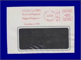 "Atome - Année: 1963 - FRANCE,ENV. (DEV) CLAMART:EDF,region Nuclèaire N°1"" - Atom"