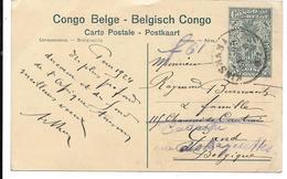 CONGO BELGE CARTE POSTALE ENTIER N°97 Chute De La Tshopo Cachet KINSHASA 1923? - Entiers Postaux