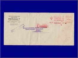 """Sécurité Routière - Année: 1942 - FRANCE,ENV. BOULOGNE-BILLANCOURT:""""Renault* La Voiture De La Jeunesse"""". - Cars"""