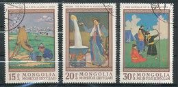N° Yv 447/449 -Tableaux De B. Avazad - Mongolie
