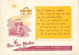 Publicité Commerce électroménager - Van Der Molen Amsterdam Radio-Gramofoonplaten, Frigidaire - Carte De Voeux 1950 - Publicité