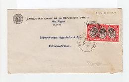 Sur Env. Timbre République D'Haïti Tricentenaire CAD Cayes 1936. CAD Destination Port Au Prince. Slogan Café. (1122x) - Haïti