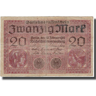 Billet, Allemagne, 20 Mark, 1918, 1918-02-20, KM:57, B+ - [ 2] 1871-1918 : Empire Allemand