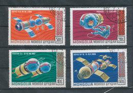 N° Yv 505,509,510  - Vaisseaux Spaciaux - Mongolie