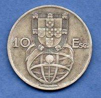 Portugal -  10 Escudos 1954    -- Km  # 586 -  état  TB+ - Portugal