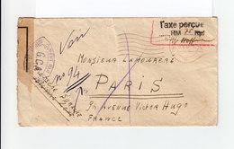 Env. Zone Française Französische Zone Pour Paris CAD 1946. Ouvert Par Autorités De Contrôle GCA. Taxe 75 Rpf. (1125x) - Zone Française
