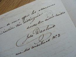 [ Jules DANLOUX Peintre ] LAS De Son Fils Jules - Autographes