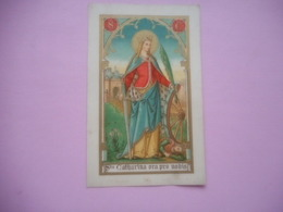 DEVOTIE-LITH.ST.AUGUSTIN-SANCTA CATHARINA - Religion &  Esoterik