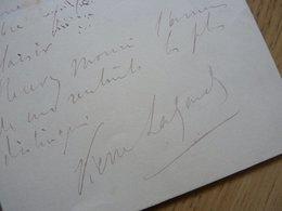 Pierre LAFOND DE CAMARSAC Peintre - Autographes