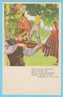 J.M. 26 - Finlande - Entier Postal - N° 28 - Fête Paysanne - Violoniste - Danse - Triangle - Santé - Tuberculose - Musique